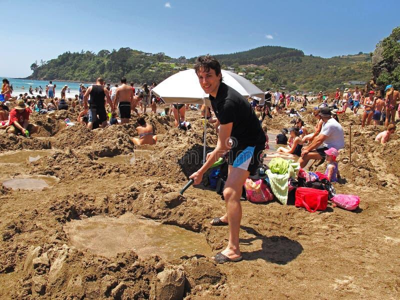 Praia da água quente, Nova Zelândia fotos de stock