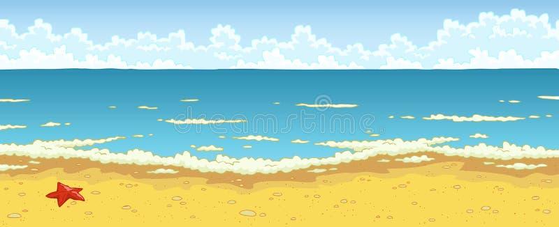 Praia da areia ilustração do vetor