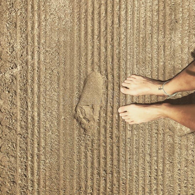 Praia da areia foto de stock