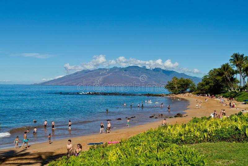 Praia da areia de Maui imagem de stock royalty free