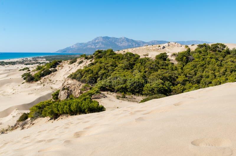 Praia da areia de Patara Província de Antalya Turquia imagem de stock