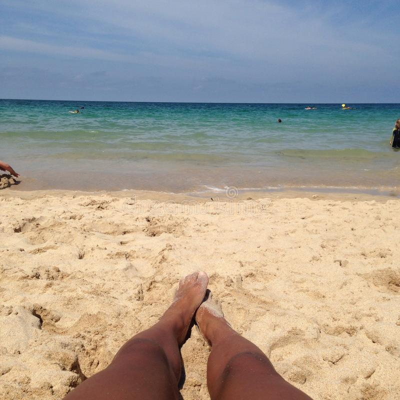 Praia da baía de Carbis fotos de stock royalty free