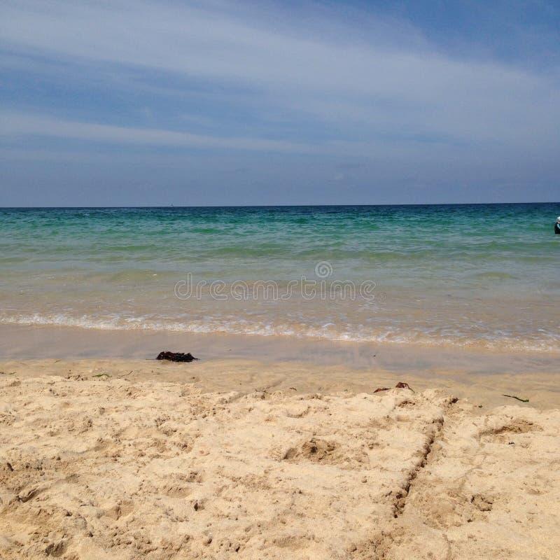 Praia da baía de Carbis fotos de stock