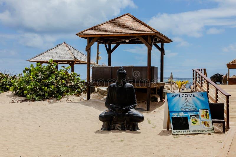 Praia da baía de Oriente - área do Palm Beach foto de stock royalty free