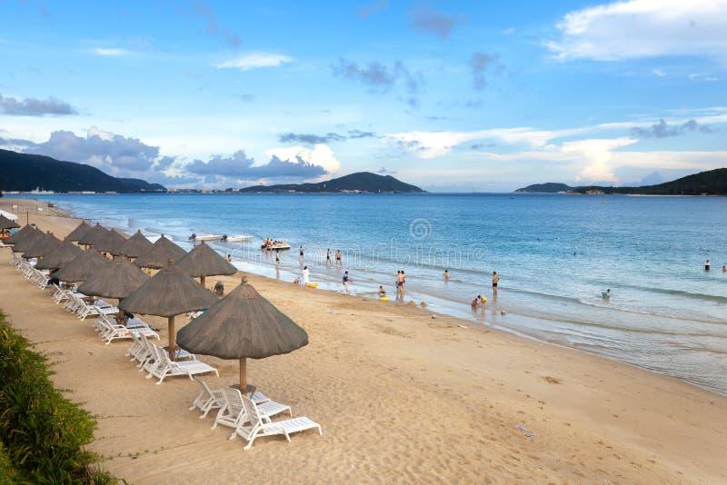 Praia da baía de Yalong, Sanya, China fotos de stock