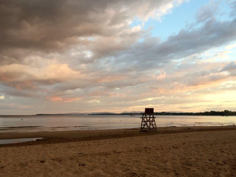 Praia da cidade de Plattsburgh fotografia de stock