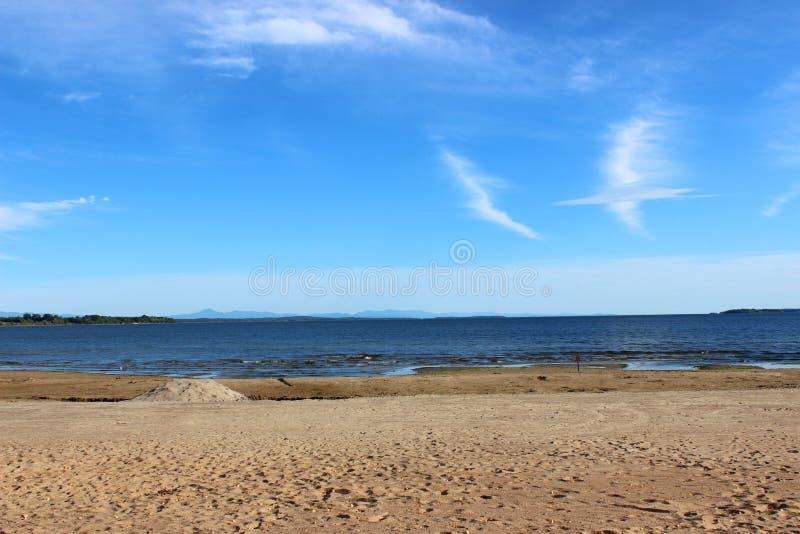 Praia da cidade de Plattsburgh imagem de stock