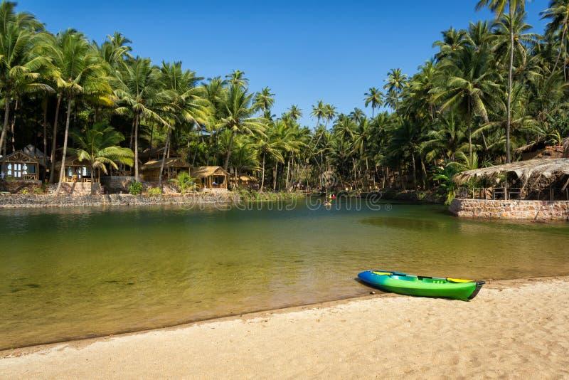 Praia da cola, Goa sul, Índia imagem de stock royalty free