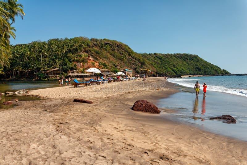 Praia da cola, Goa sul, Índia fotos de stock royalty free