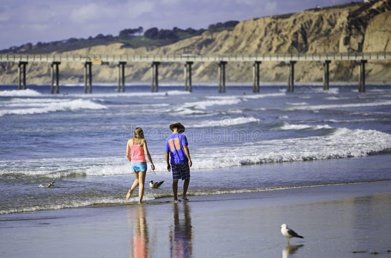 Praia da costa de La Jolla imagem de stock