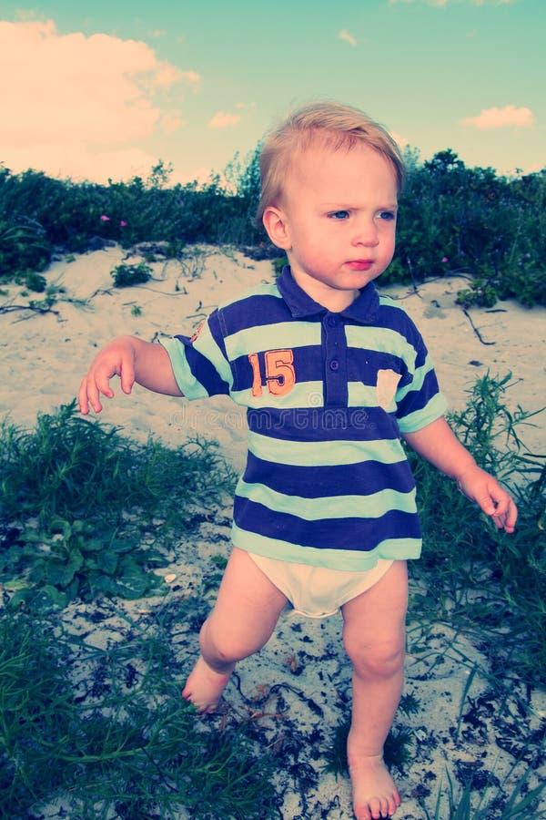 Praia da criança imagens de stock royalty free