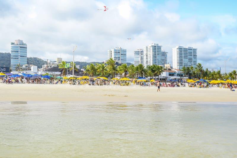 Praia da Enseada, Guaruja SP Brazylia obraz stock