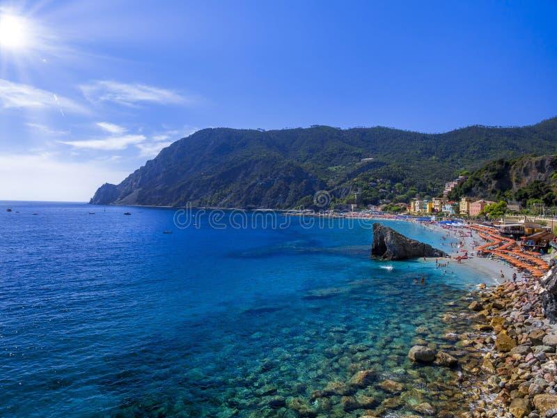 Praia da ?gua do al de Monterosso, It?lia fotos de stock