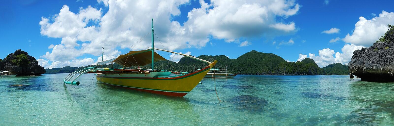 Praia da ilha de Caramoan imagem de stock