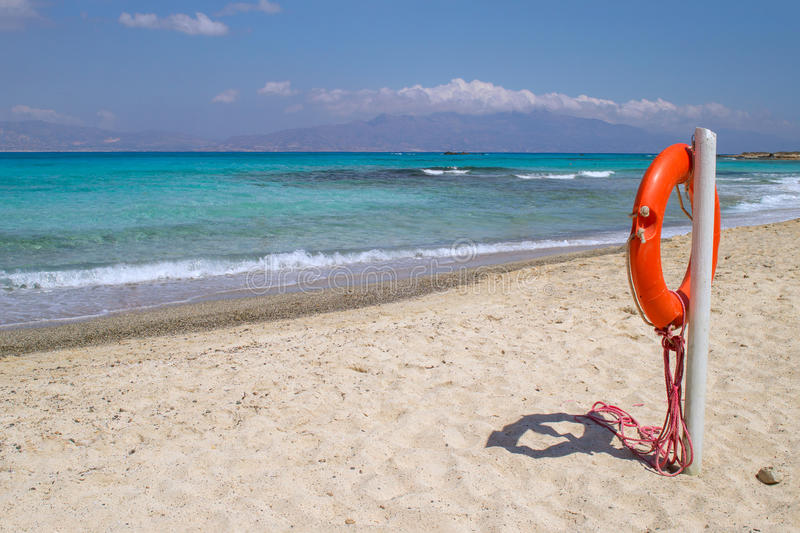 Praia da ilha de Chrisi imagens de stock