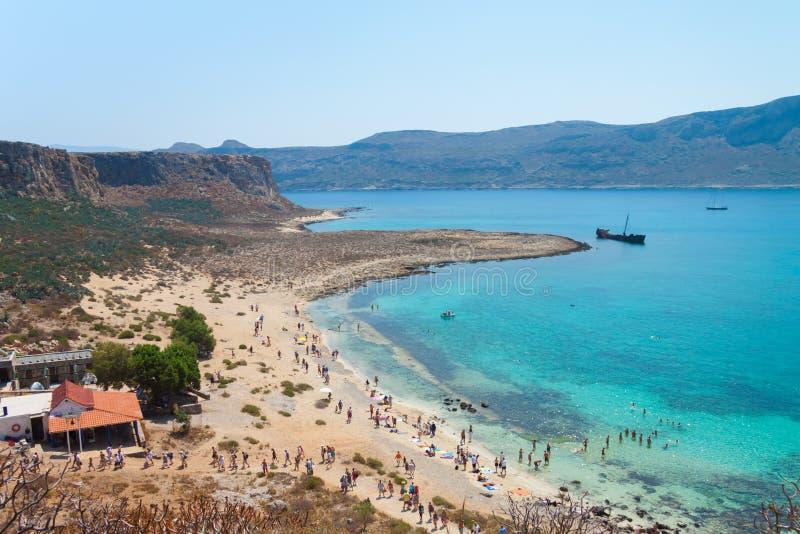 Praia da ilha de Gramvousa fotografia de stock royalty free