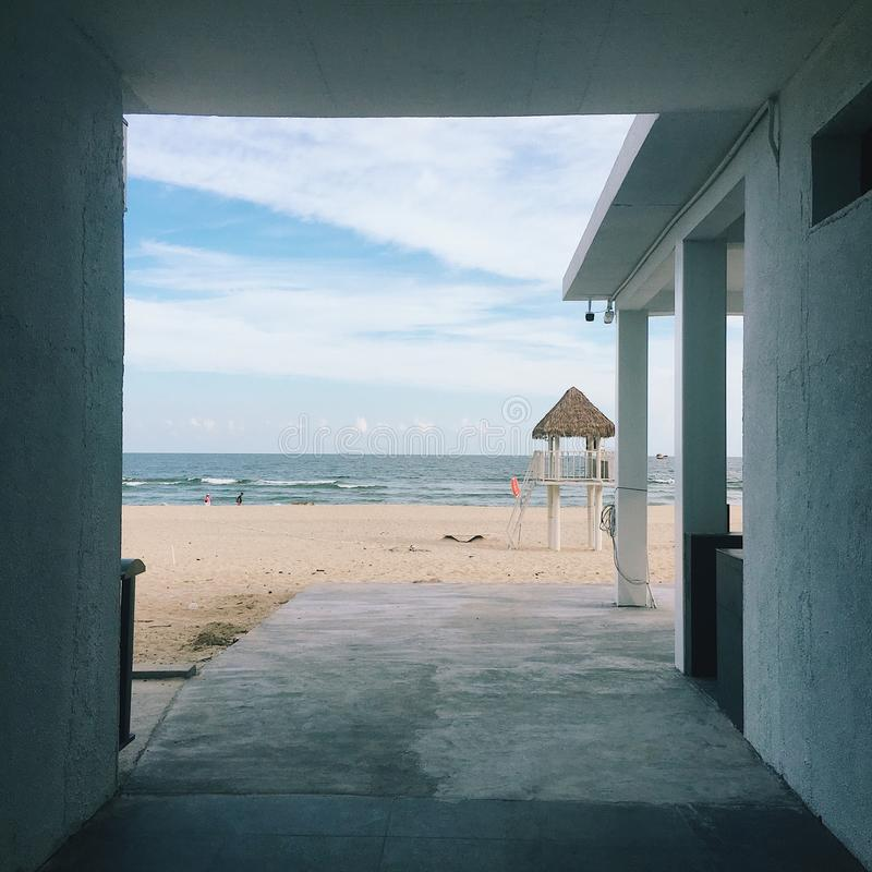 Praia da ilha de HeBao foto de stock royalty free