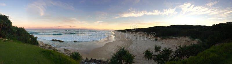 Praia da ilha de Stradbroke fotos de stock royalty free