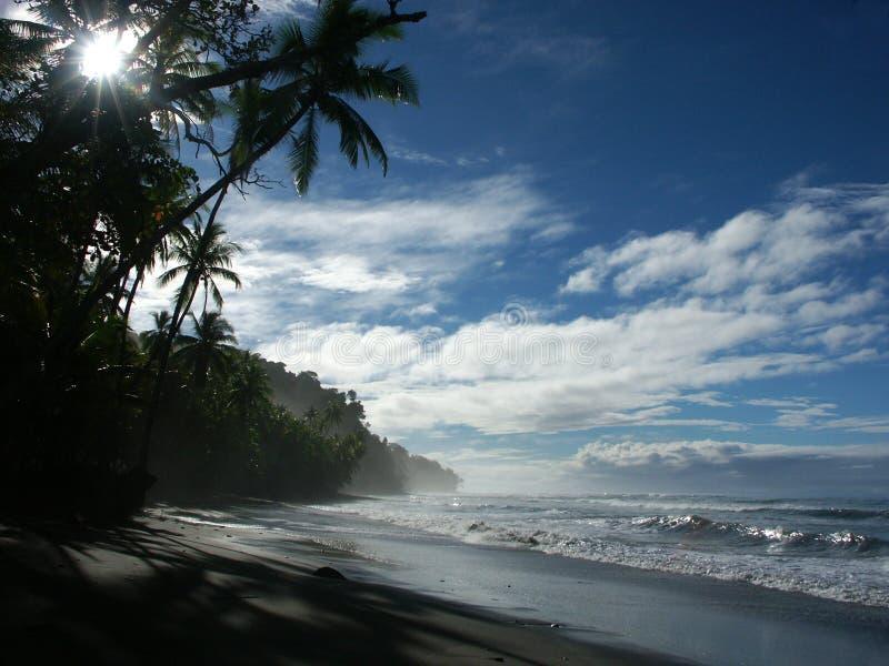 Praia da manhã fotografia de stock