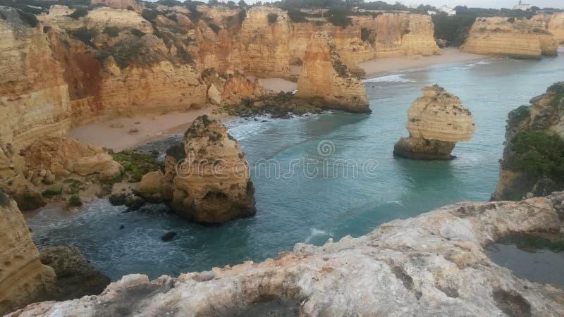 Praia DA Marinha stockfotos