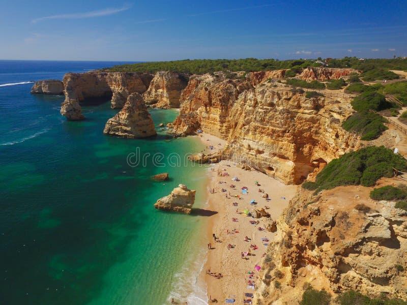Praia DA Marinha, Algarve royalty-vrije stock afbeeldingen