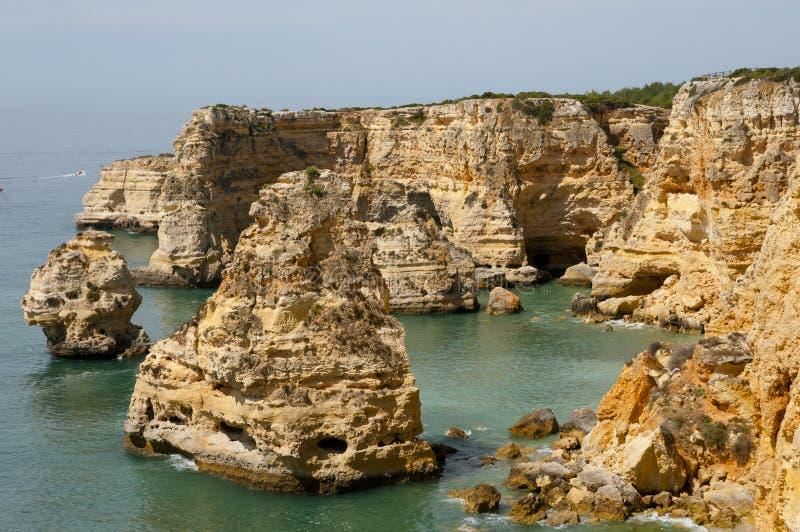 Praia da Marinha - Algarve Coast - Portugal royalty free stock images