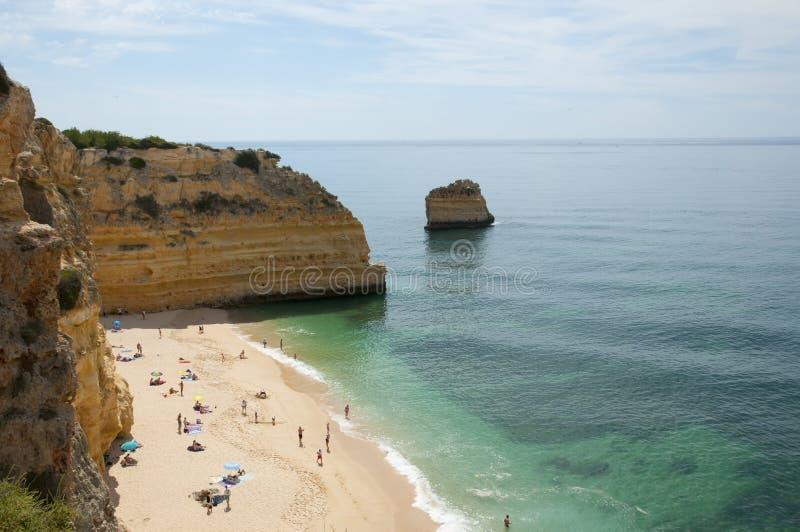 Praia da Marinha - Algarve Coast - Portugal royalty free stock photo