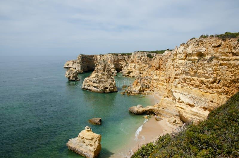 Praia da Marinha - Algarve Coast - Portugal stock photos