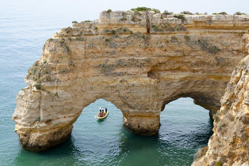 Praia da Marinha - Algarve Coast - Portugal stock photo