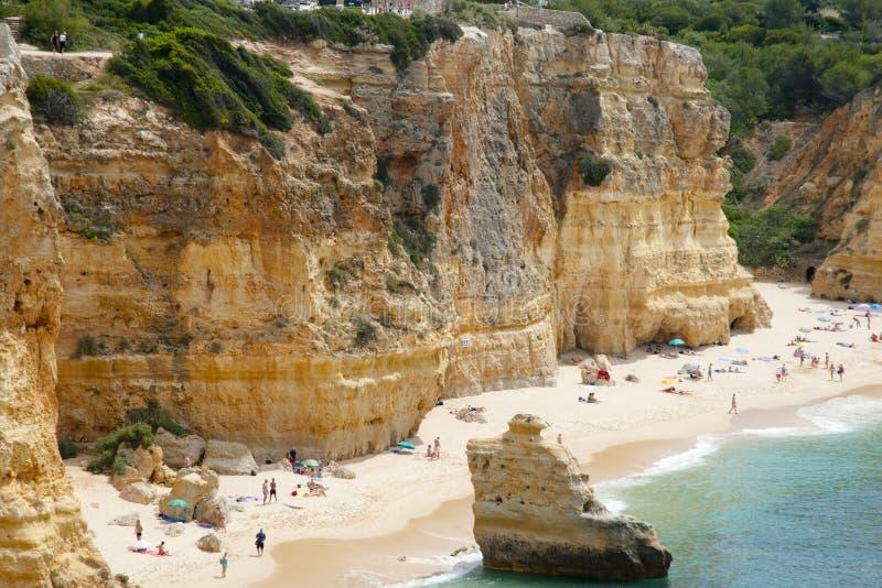 Praia da Marinha - Algarve Coast - Portugal stock photography