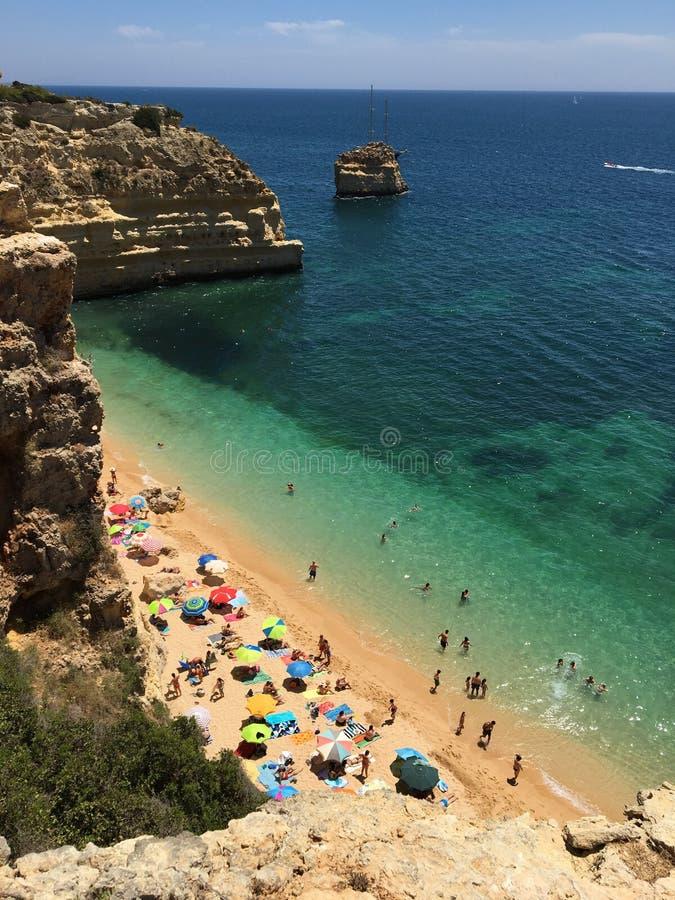 Praia da Marinha royalty free stock photography