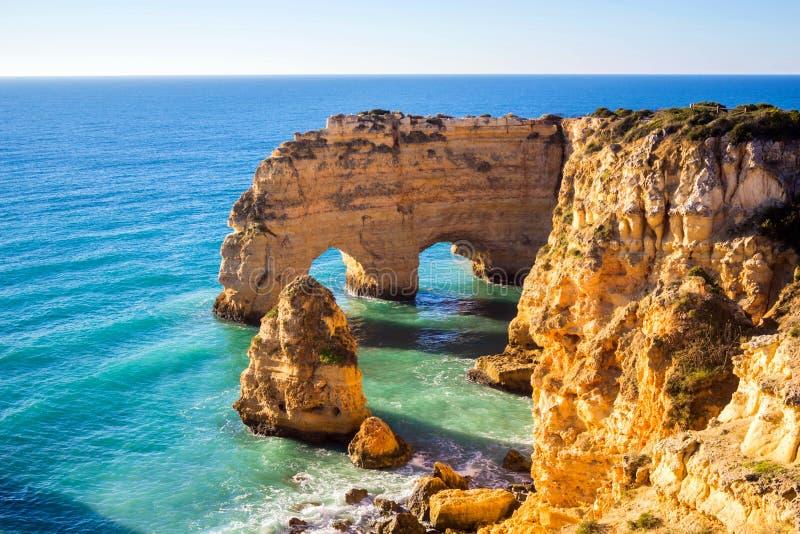 Praia DA Marinha, Algavre-gebied, Portugal stock fotografie