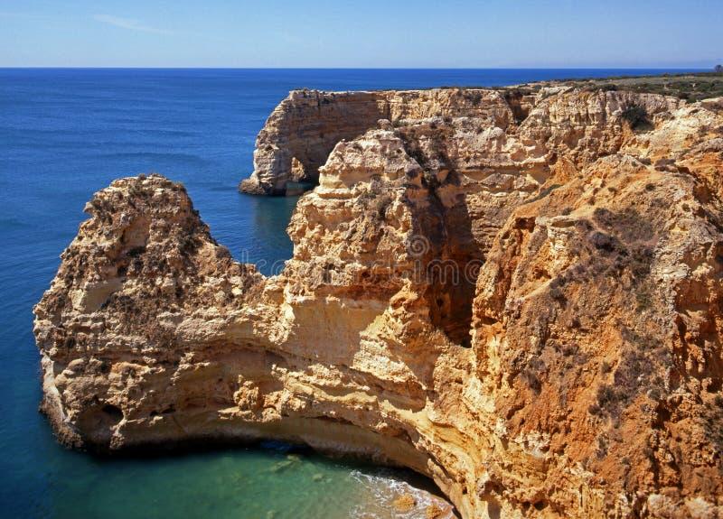 Praia da Marinha coastline. stock photos