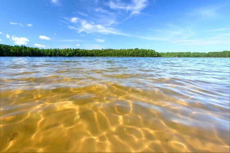 Praia da natação de Northwoods imagens de stock royalty free