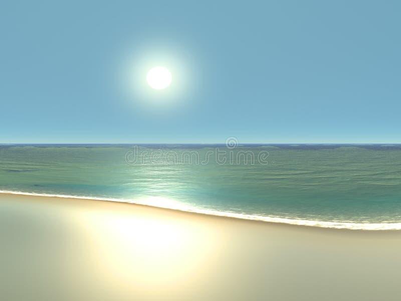 Praia da perfeição ilustração stock