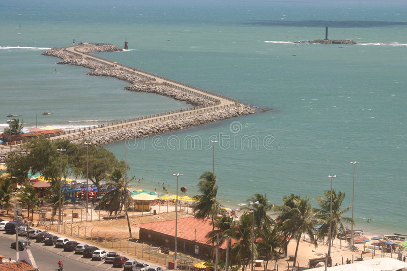 Praia da Redinha, Redinha Beach stock photo