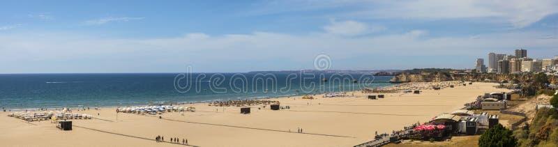 Praia da Rocha in the Algarve stock image