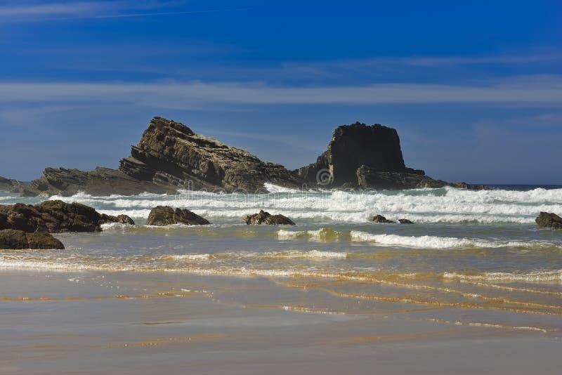 Praia DA Rocha de la playa en Portimao Algarve imagen de archivo libre de regalías