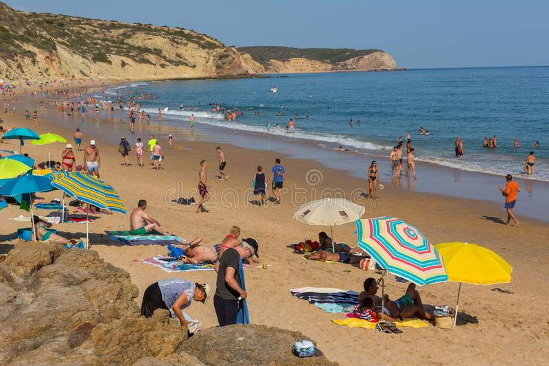 Praia DA Salema images stock