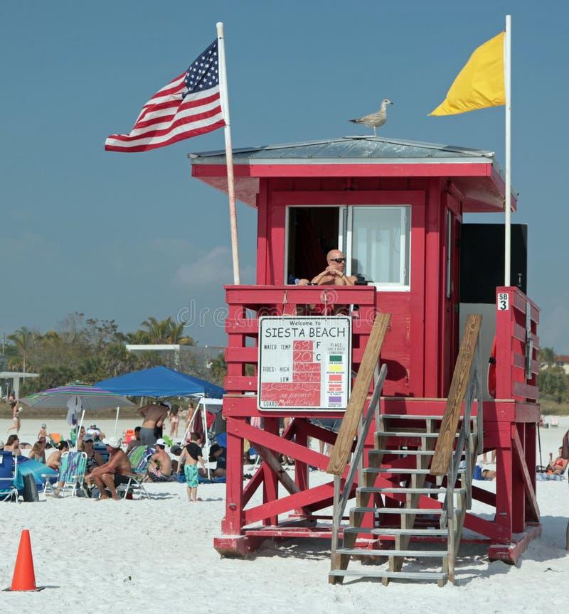 Praia da sesta, Florida A areia a mais fresca da praia imagem de stock royalty free