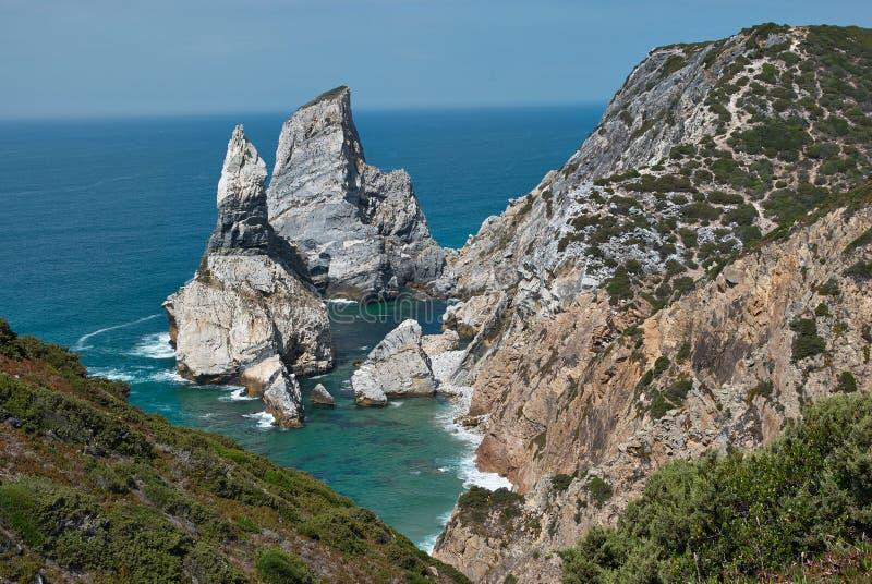 Praia da Ursa, Portogallo fotografia stock libera da diritti