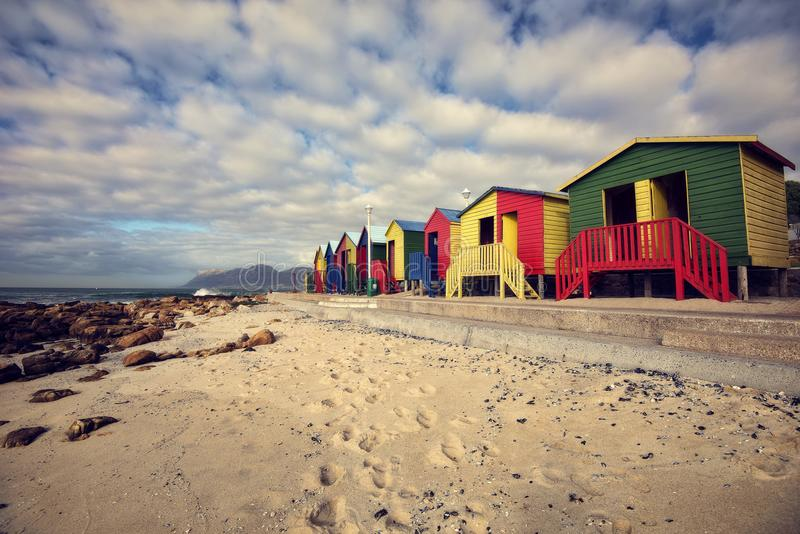 Praia de África do Sul Muizenberg imagens de stock