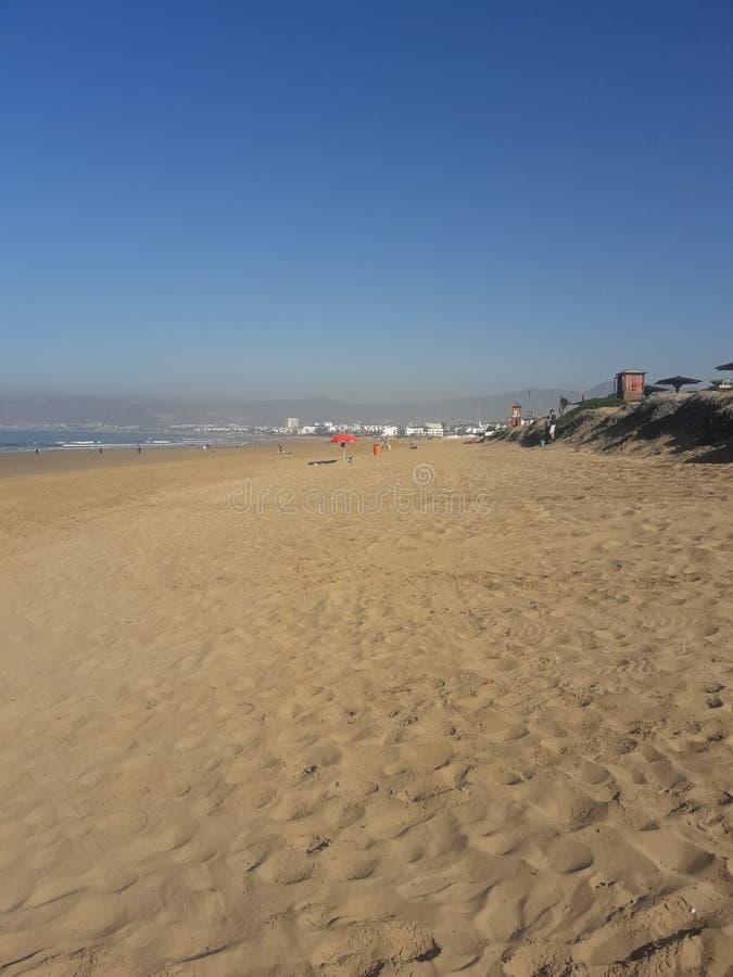 Praia de Agadir fotografia de stock royalty free