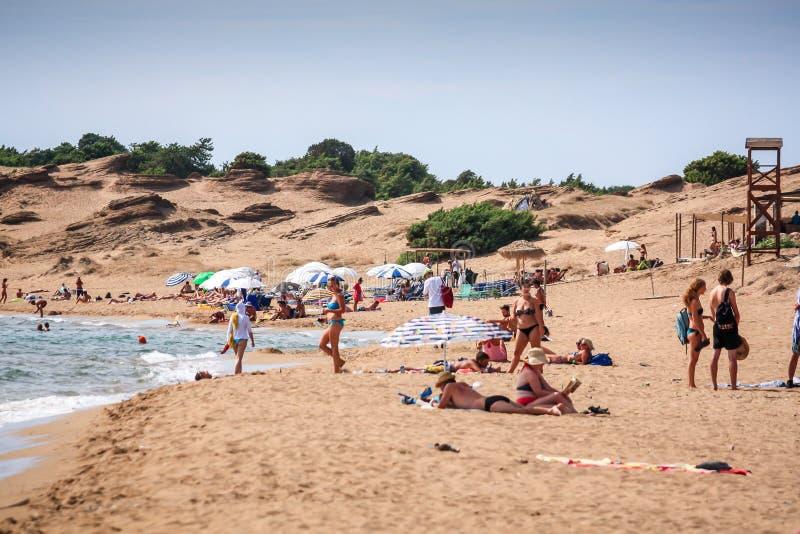 Praia de Agios Georgios, Corfu fotos de stock