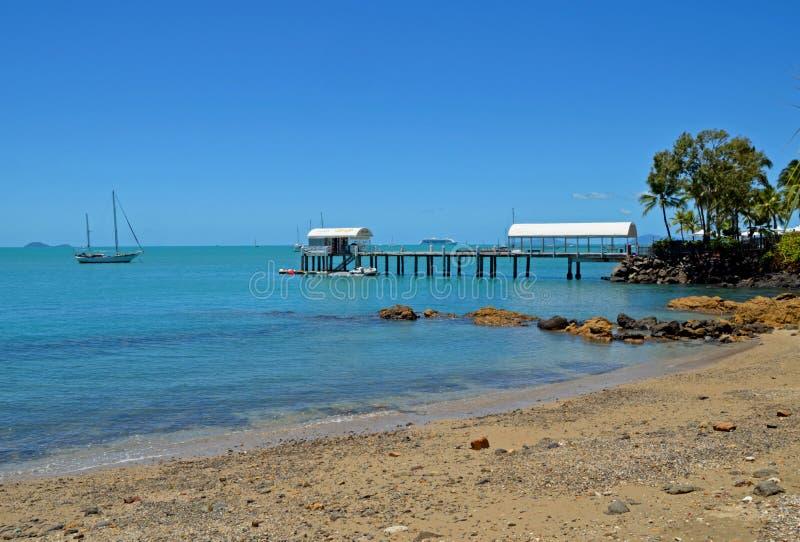 Praia de Airlie, Queensland, Austrália fotos de stock