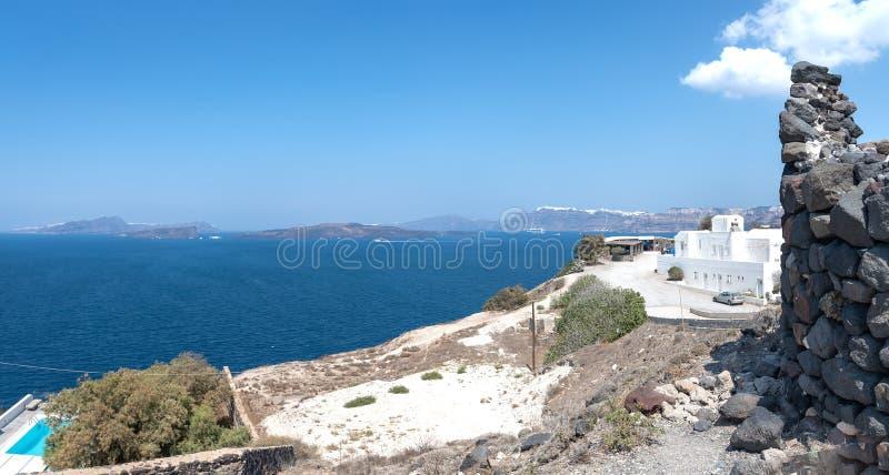 Praia de Akrotiri - ilha de Santorini Cyclades - Mar Egeu - Grécia fotos de stock royalty free