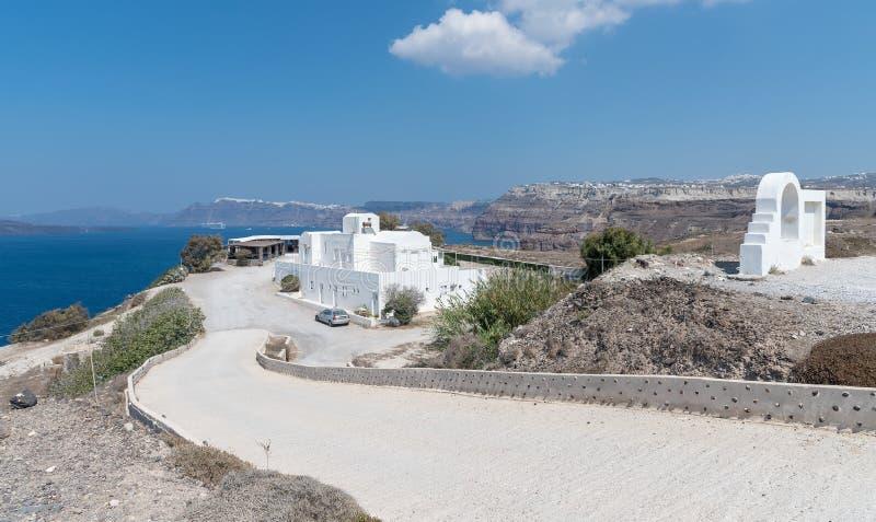 Praia de Akrotiri - ilha de Santorini Cyclades - Mar Egeu - Grécia fotografia de stock