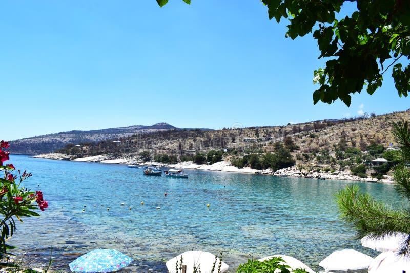 Praia de Aliki foto de stock royalty free