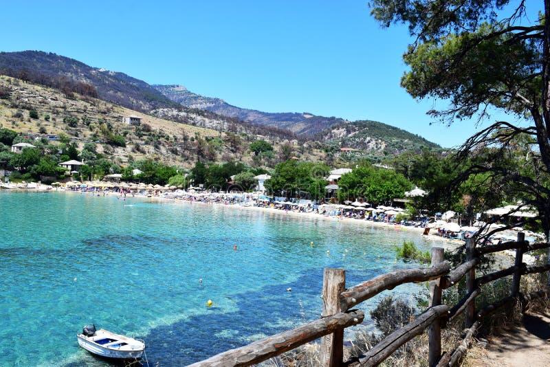 Praia de Aliki foto de stock