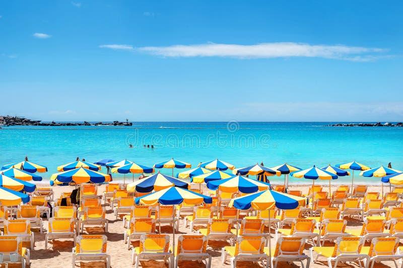 Praia de Amadores Gran Canaria, Ilhas Canárias, Espanha fotos de stock